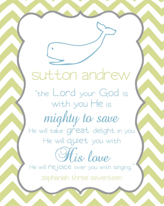Items similar to printable personalized bible verse print for Bible verses about fish