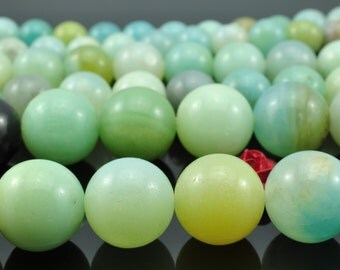 37 pcs of Amazonite  smooth round beads in 10mm