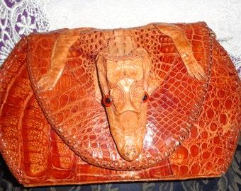 Authentic alligator handbag Reduced