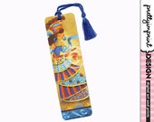 Handmade bookmark, african priestess whimsical illustration bookmark with Tassle - Nila