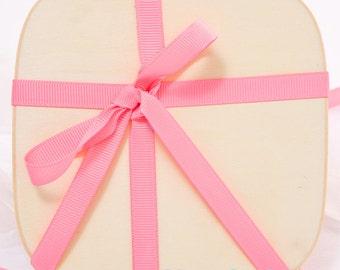 """3/8"""" Pink Grosgrain Ribbon, Colored Grosgrain Ribbon"""