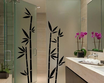 Lovely Bamboo Wall Decal Cute Vinyl Sticker Home Arts Floral Wall Decals WT029 Part 13