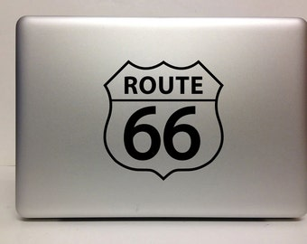 Macbook Decal route 66 decal Macbook Stickers decal laptop decal iPad decals for macbook 017