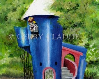 New Orleans Art Print of City Parks Storyland Tower from my Original Acrylic Painting by Gerry Claude