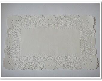 50 pcs Rectangle Paper Doilies