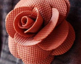 90's Vintage Blush Pink Rose Hair Clip/Brooch
