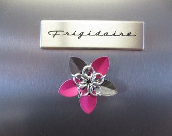 Chainmaille Flower Fridge Magnets