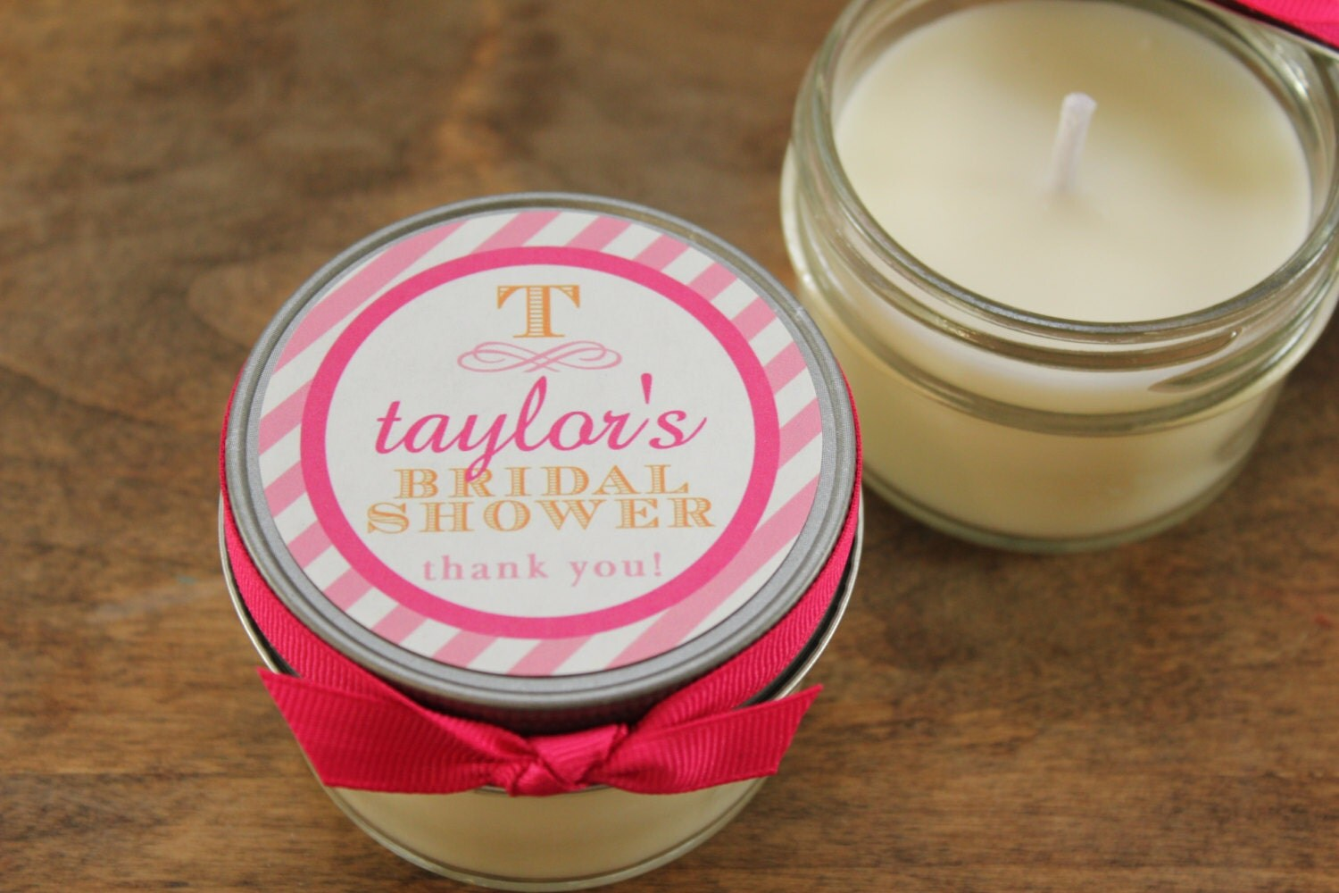 Bridal Shower Favor Sayings For Candles : Set of 12 4 oz Soy Candle Bridal Shower Favors Monogram