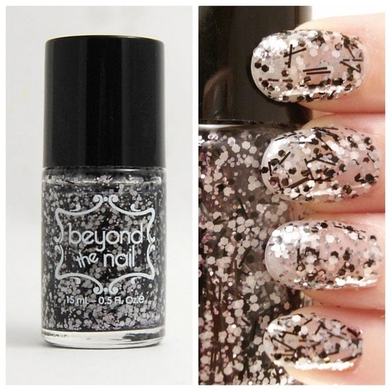Salt n Pepper - Black, Silver & White Glitter Nail Polish