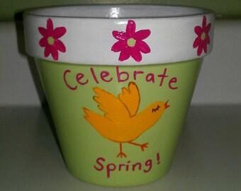 Springtime Flower Pot