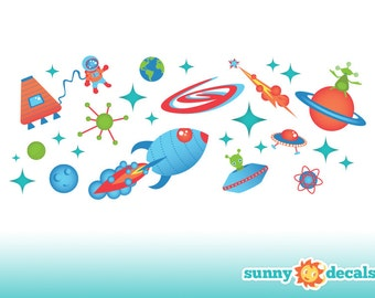 Popular items for space themed nursery on etsy for Outer space themed fabric
