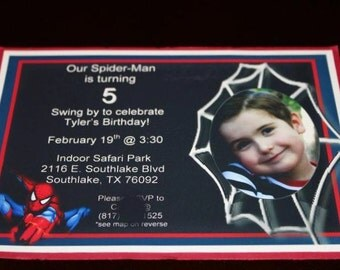 Spider Man Birthday Invitation