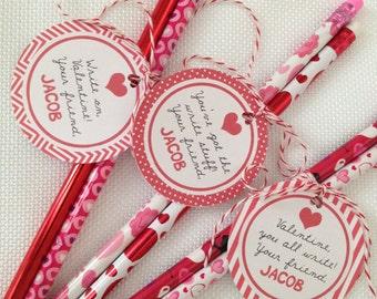 Unique Pencil Valentine Related Items Etsy