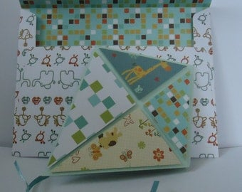 Explosion kite card, adorable patterns, with matching envelope. Great for birthdays. Free uk postage