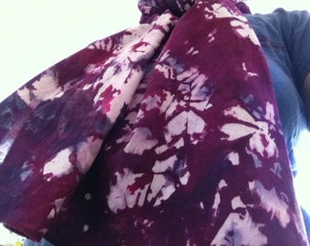 Beautifully Springlike 100% cotton gauze hand dyed scarf for all
