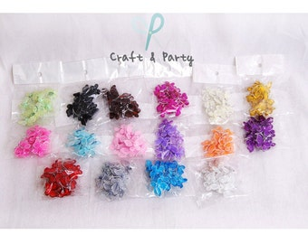 "3/4"" Nylon Butterflies Glittery Decoration - (12 pieces) - 16 colors to choose"