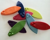 Party Favors - Birthday- summer party- set of 8 surf board crayons - luau party- beach party