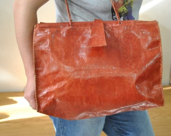 Vintage Leather Handbag , Handmade...(277)