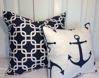 Nautical pillow cover 14x14