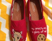 If You Give a Mouse a Cookie hand-painted TOMS (ADULT)