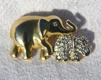Golden Elephants Pin
