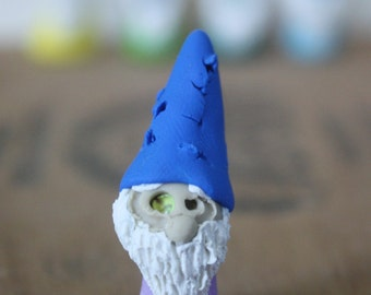 Mini Zombie Gnome - Polymer Clay