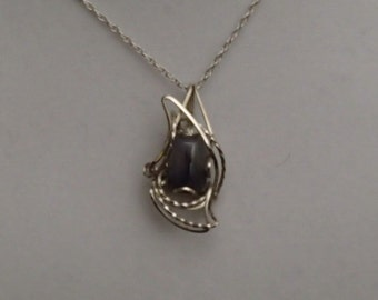 Sterling Silver Montana Agate Pendant