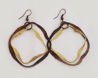 Copper Earrings - Circular Nature