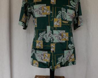 1970's men's polyester shirt.