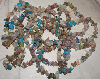 "36"" Multi Gemstone Chip Strand"