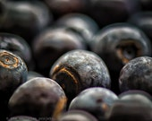 THE NATURE COLLECTION, macro photography, blueberries, fruit, dark blue, rust, plump, juicy, purple, royal blue, sapphire, spring, kitchen