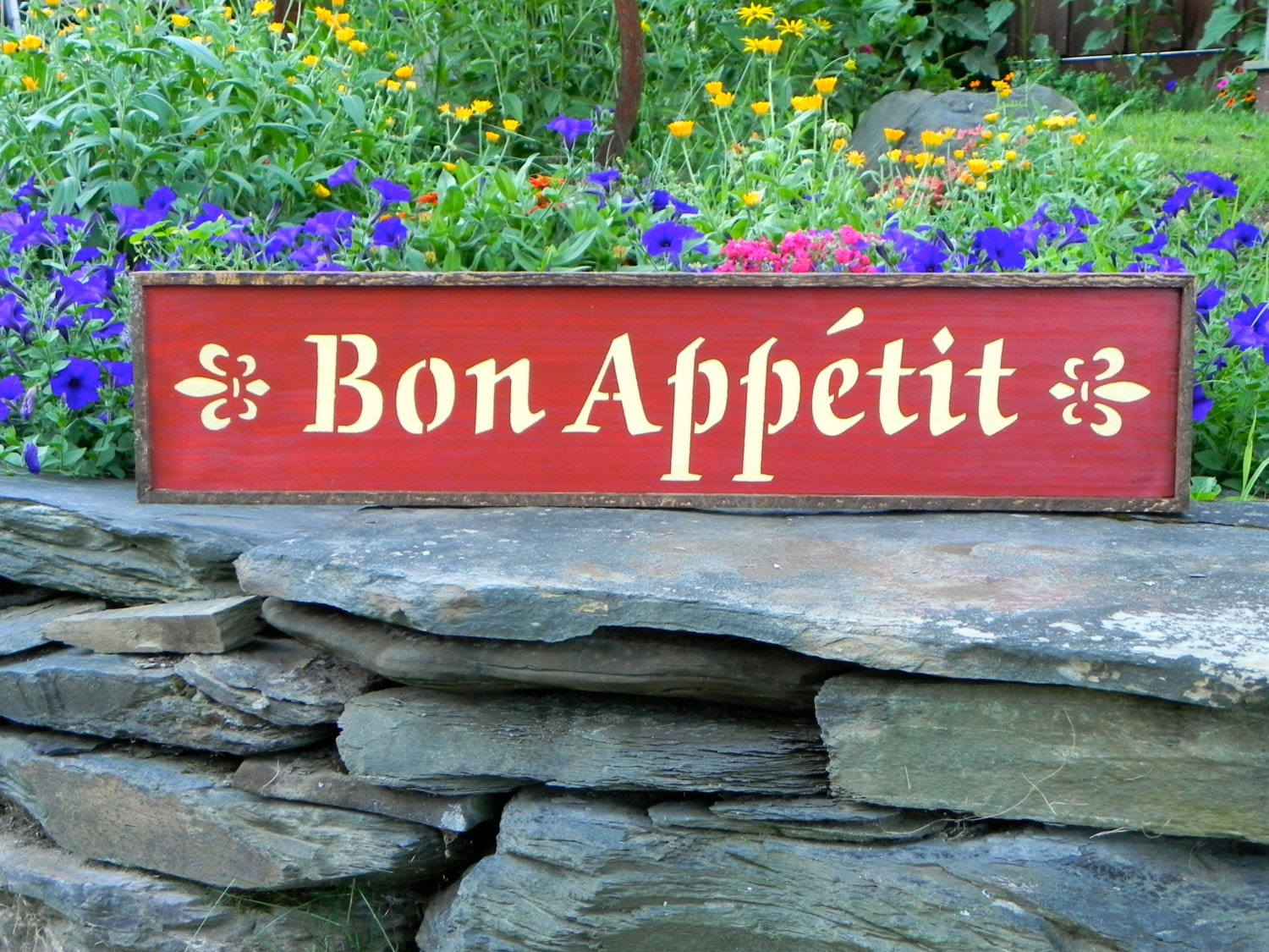 bon appetit wood sign kitchen decor housewares signage