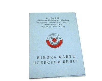 Membership Card Lifeguard Soviet Union