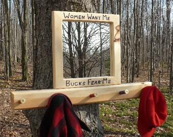 mirror and coat rack