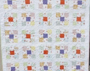 Beautiful Nine Patch Crib Quilt