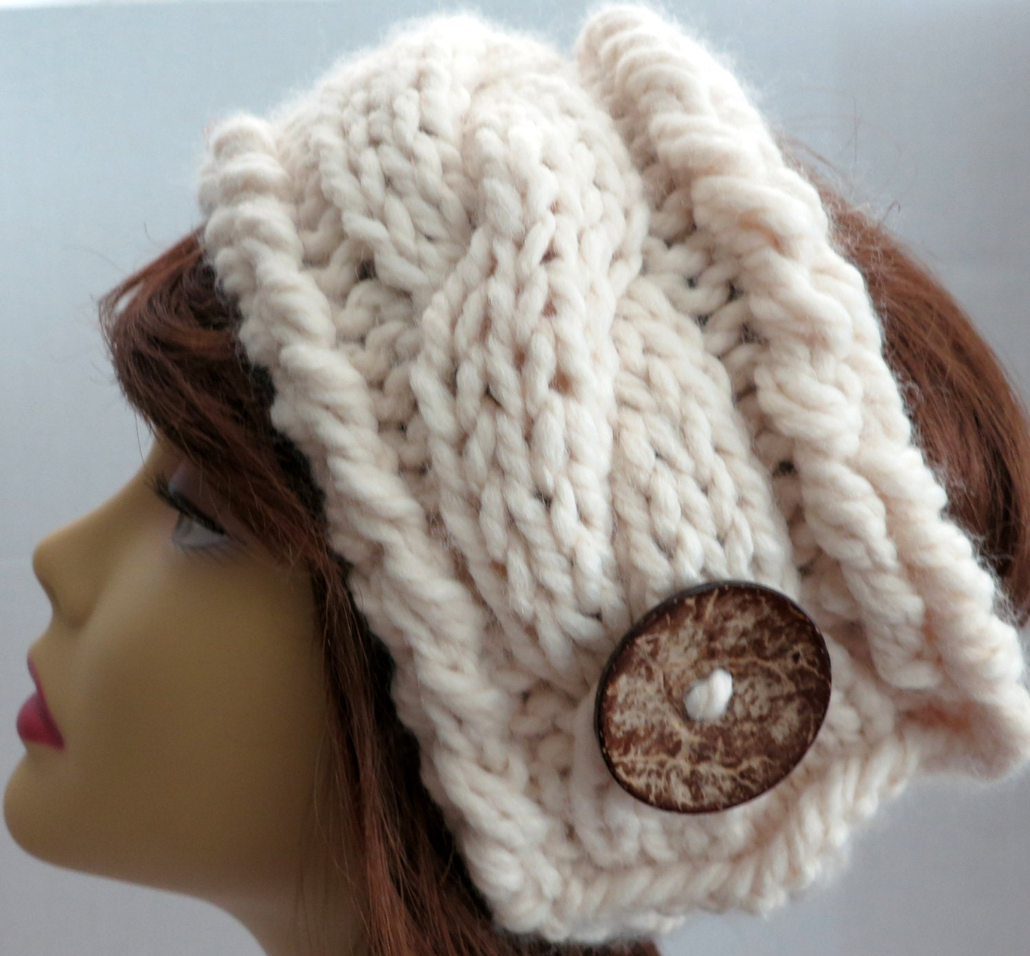How To Knit Color Patterns : PDF 138 Pattern Knitting Pattern Chunky Headband Earwarmer PDF