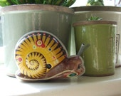 Vintage Wind-up Tin Snail