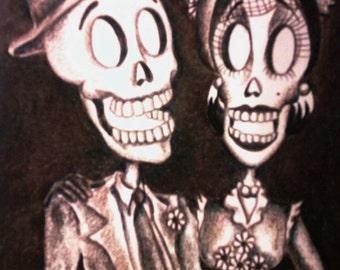 Day of the Dead/ Dia de Los Muertos Print - Eternally Yours by Lisa Cabrera