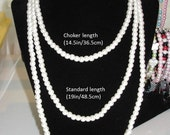 6mm Glass pearl necklace handmade made to order your choice of color and length