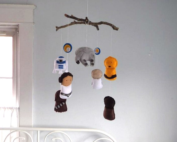 Items Similar To Star Wars Mobile Baby Crib Mobile