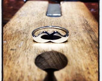 Mustache Ring Sterling Silver .925