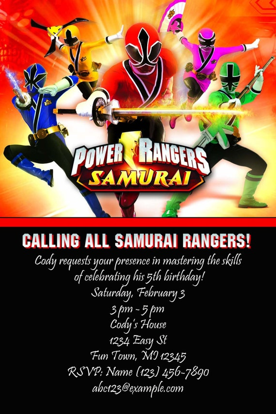 Power Ranger Birthday Invitations absolutely amazing ideas for your invitation example