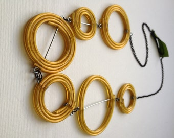 Gold Spirals Necklace