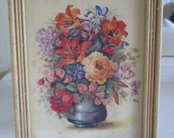 Vintage Jo Roelofs Framed Floral Print