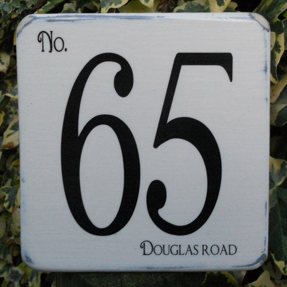 House Number Sign Decorative Shabby Chic Made To Order