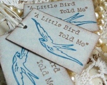 Little Bird Told Me Vintage Inspired Gift Tags Set Of 100