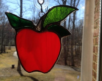 Stained Glass Teacher's Apple