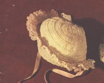 Little Miss Sunshine Bonnet Crochet Pattern PDF  Instant Download Get It Now
