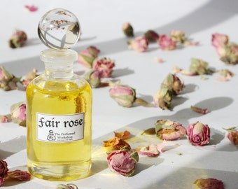 Perfume Oil -Fair Rose - Authentic 16th Century Perfumed Recipe - Natural, Artisan Traditional perfume