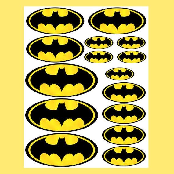 INSTANT DOWNLOAD Batman 4 Sizes For Balloon Stickers Lollipop